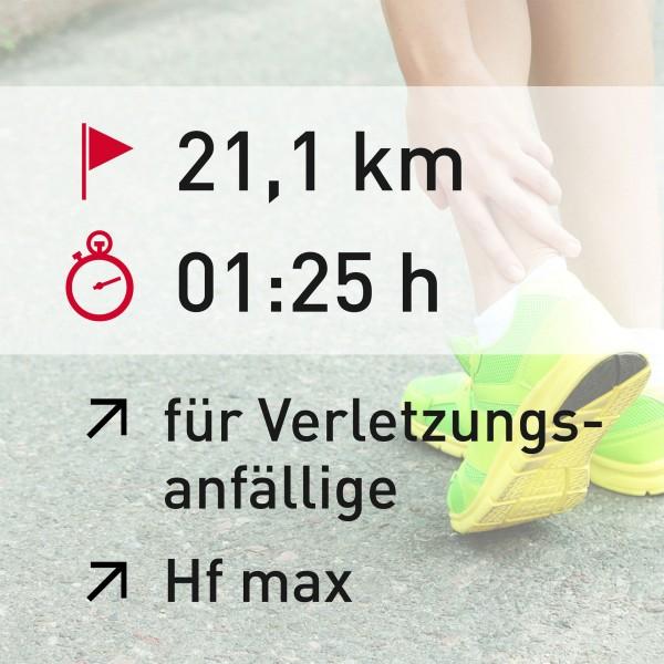 21 km - 01:25 h - Herzfrequenz