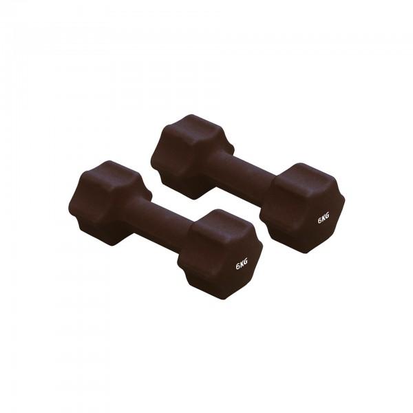 Produktbild Gymstick Neopren-Hanteln (1 Paar), 6 kg / schwarz