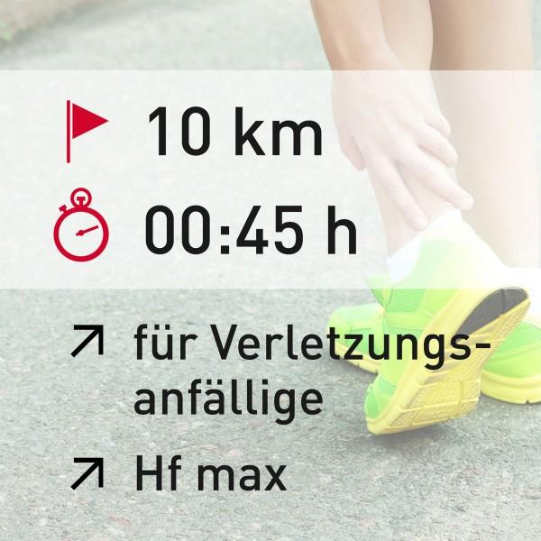 10 km - 00:45 h - Herzfrequenz