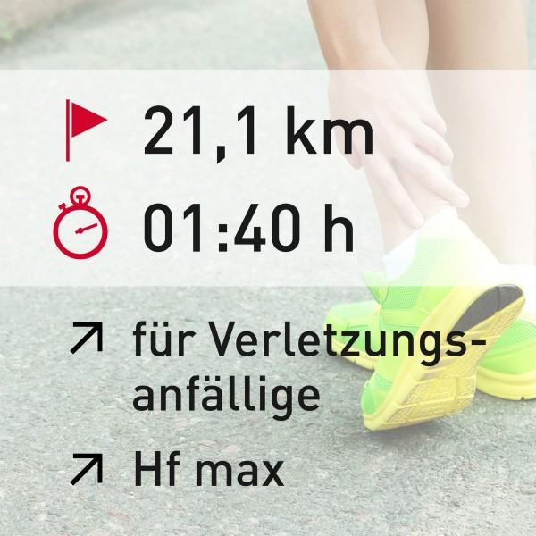21 km - 01:40 h - Herzfrequenz