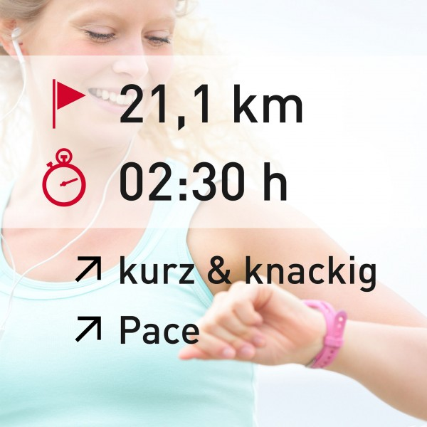 21,1 km - 02:30 h - intensity - Pace