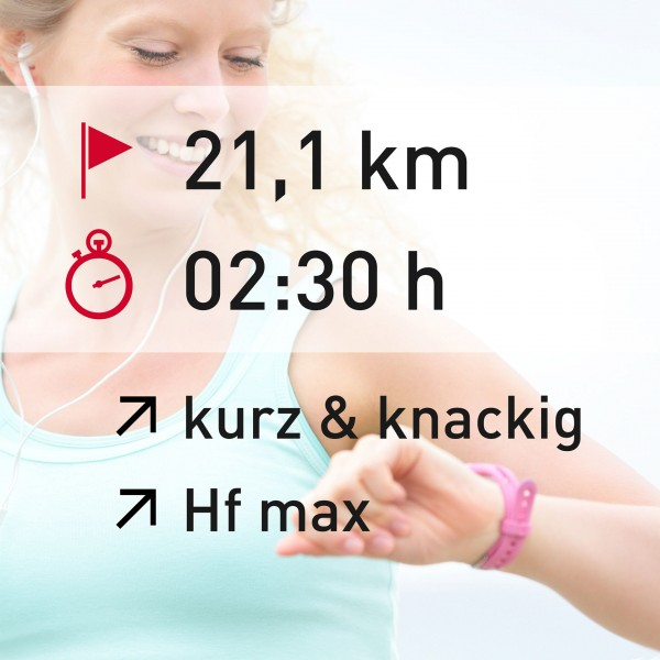 21,1 km - 02:30 h - intensity - Herzfrequenz