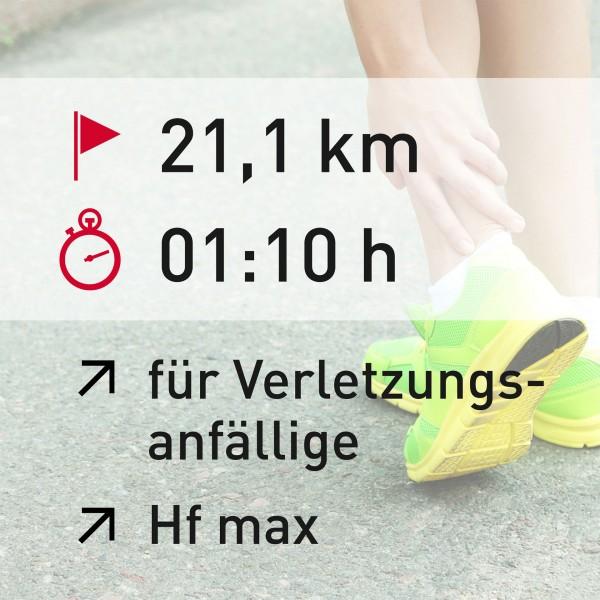 21 km - 01:10 h - Herzfrequenz